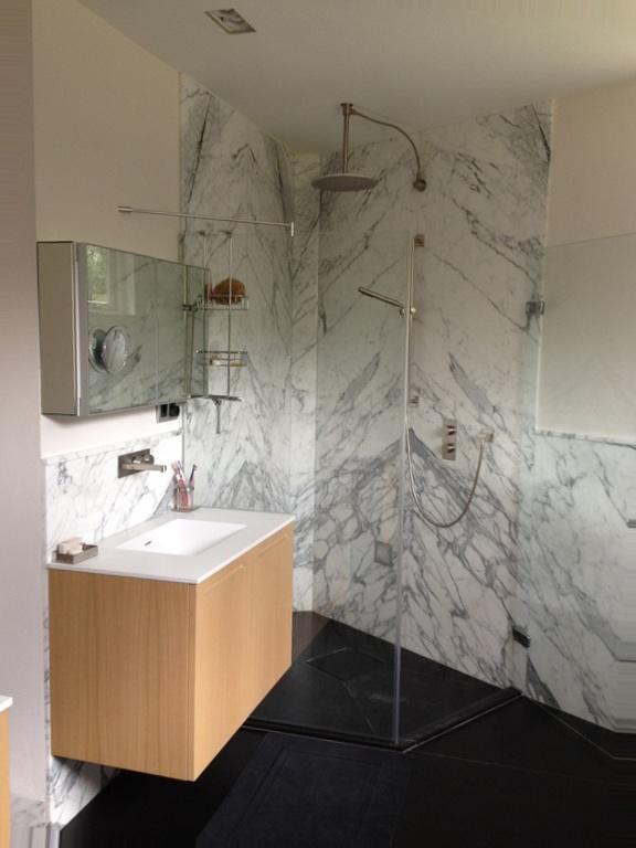 Badkamer grachtenpand Amsterdam - UFA Bouw