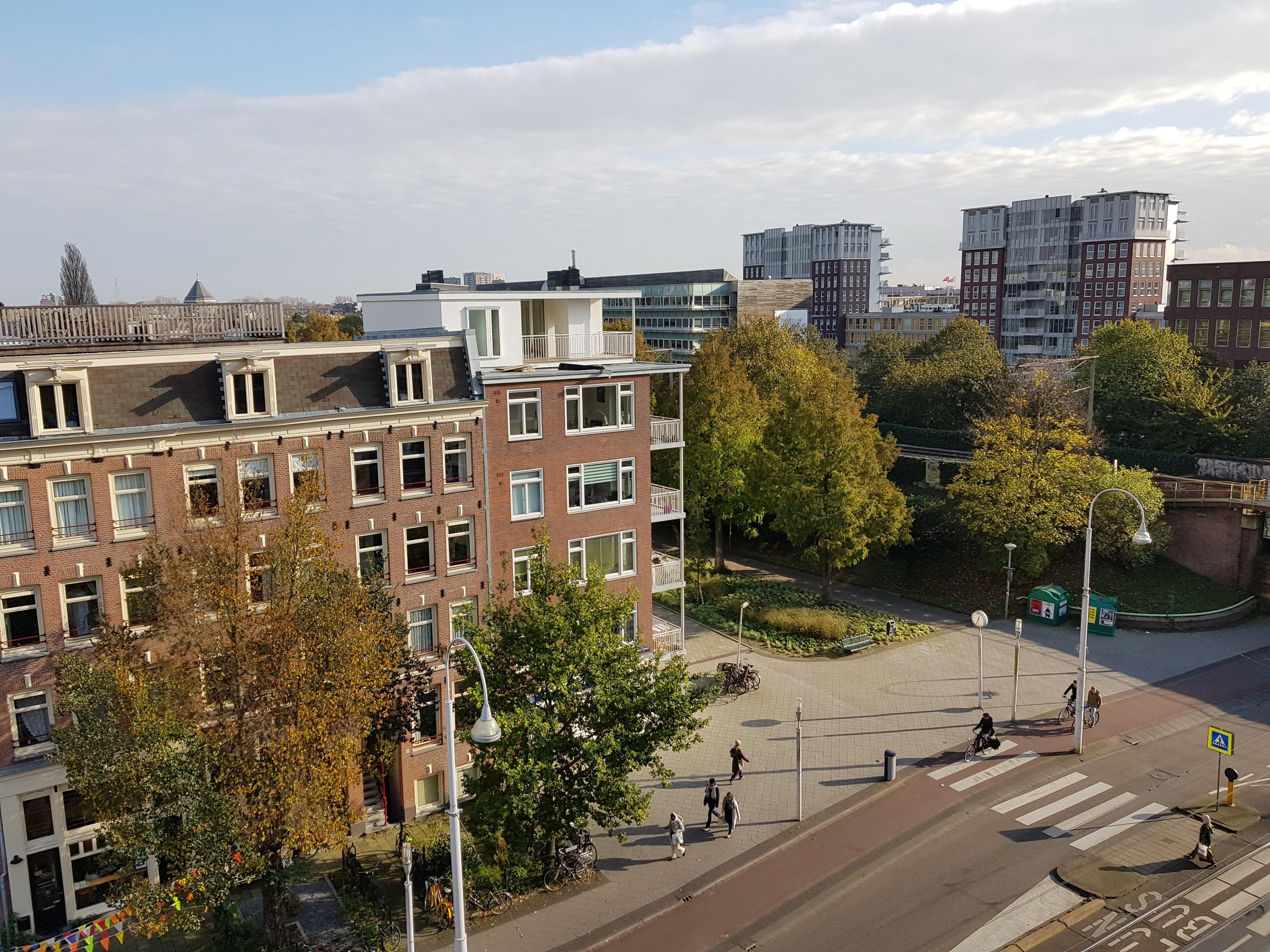Linnaeusstraat verbouwing UFA Bouw – overzijde uitzoom