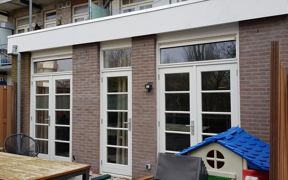 UFA Bouw_renovatie Kramatweg_Begane grond woningen met nieuwe uitbouw achterzijde